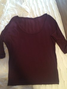 American Apparel American Made Viscose Tee T Shirt Cranberry