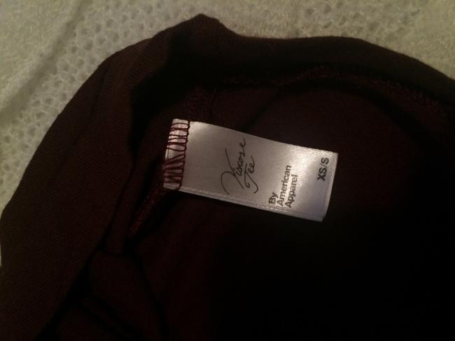 American Apparel Made Viscose T Shirt Cranberry