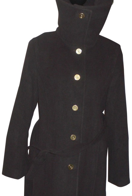 Item - Brown L -belted-big-gold-buttons-coat-size-l -belted-big-gold-butt Coat Size 12 (L)