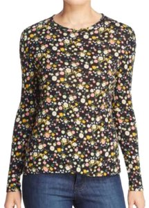 Tory Burch T Shirt black & multi colored flowers