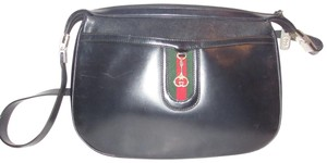 Gucci High-end Bohemian Perfect For Everyday Equestrian Early Style Red/Green Shoulder Bag