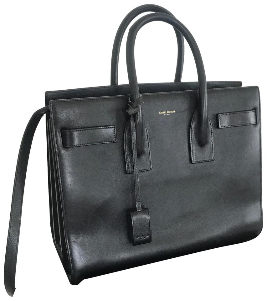 bf4b9e06ba Saint Laurent Sac de Jour Small Black Smooth Leather Satchel - Tradesy