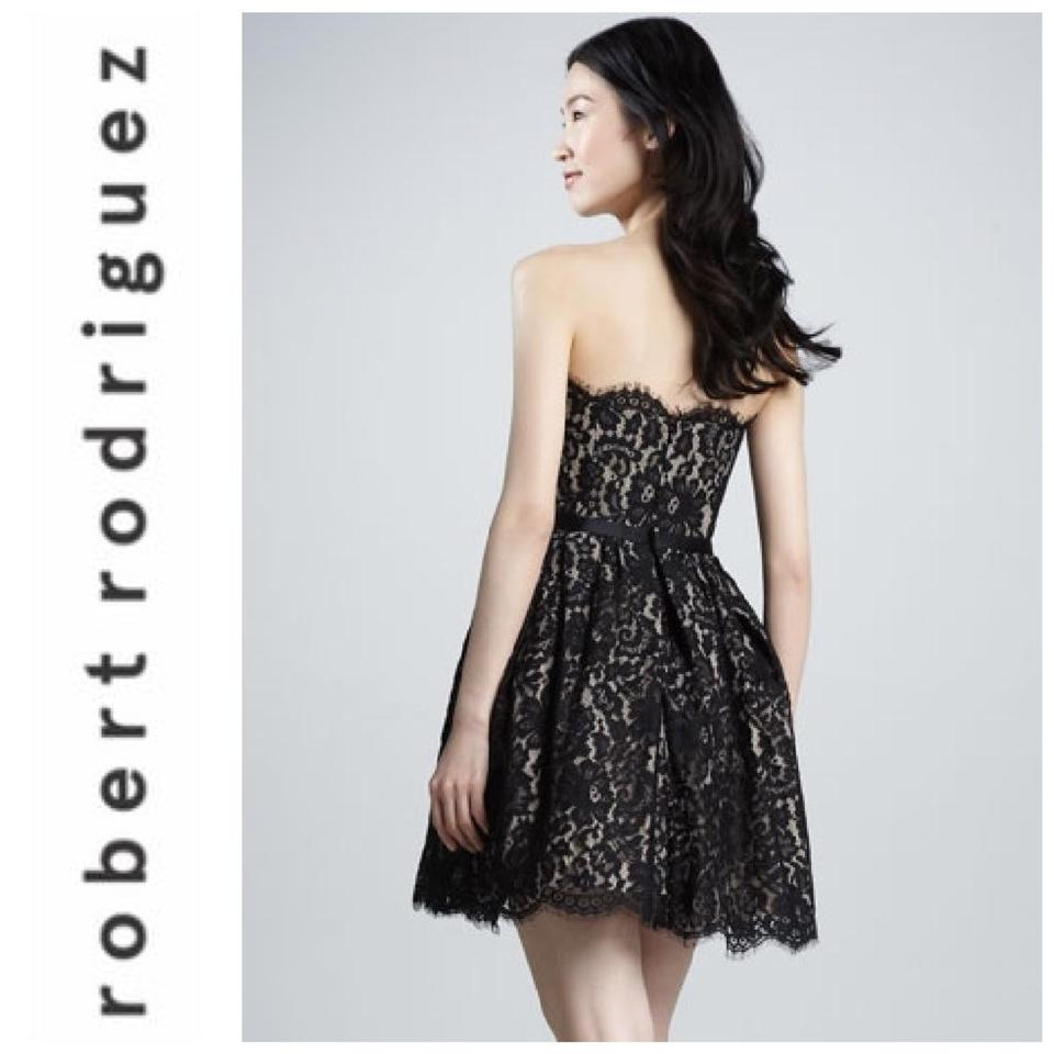 ddabeaf478cae Robert Rodriguez Black Rodriguez/Neiman Marcus Lace Little Cocktail Dress