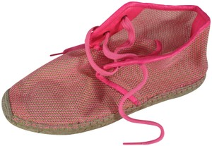 Stella McCartney Espadrille High Hot Pink Flats