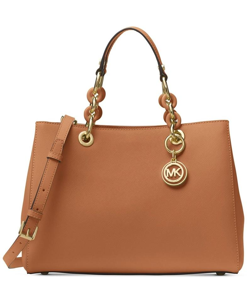 086e71593cd6 Michael Kors Cynthia Saffiano Leather Shoulder Crossbody Swingpack Satchel  in Acorn Image 0 ...