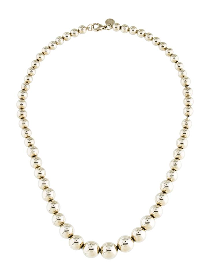 ef22387c2 Tiffany & Co. Silver Hardwear Collection Graduated Ball Necklace ...