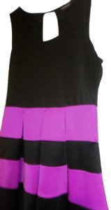 Tempted short dress Black with pink on Tradesy
