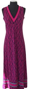 Pink with Navy Maxi Dress by MICHAEL Michael Kors