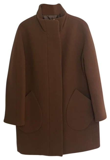 Item - Brown Double Cloth Patch Pocket Coat Size 4 (S)