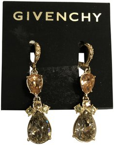 Givenchy Swarovski Crystals, ear drops earring, gold tone