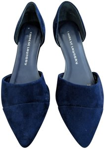 Chinese Laundry Suede D'orsay Bright Navy Flats