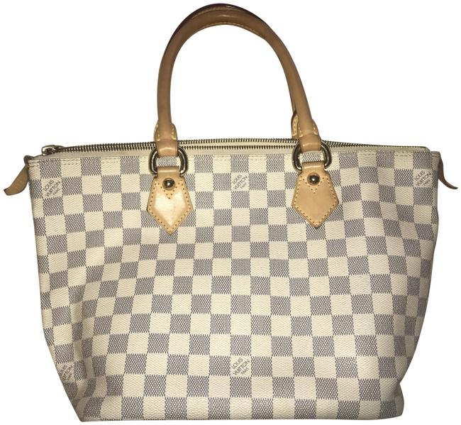 Item - Saleya Totally Mm Damier Azur Cream and Gray Canvas Tote