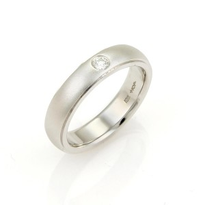 Hearts on Fire - Duet Satin Diamond 18k White Gold Band Ring