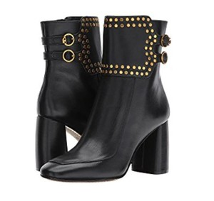 Tory Burch Holden Studded Black/Gold Boots