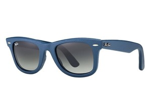 Ray-Ban Ray Ban Unisex Sunglasses RB2140 QM 116871 Blue Frame Grey Lens 50mm