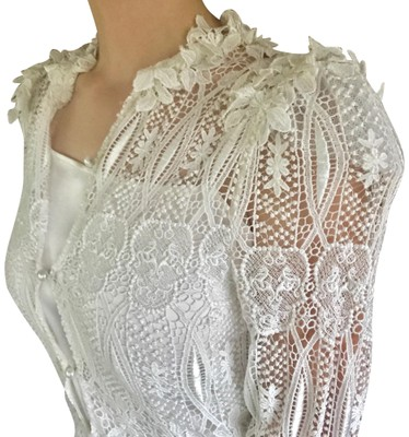 Thomas Wylde Bone Rare Silk Skull Lace Unique Wedding Mid Length