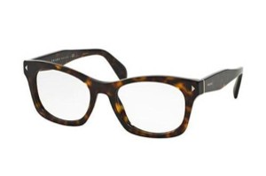 Prada New Prada Women Eyeglasses PR11SV 2AU1O1 Havana Frame Demo Lens 51mm