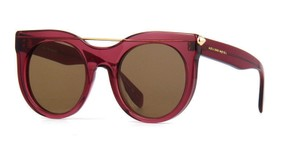 Alexander McQueen New Alexander McQueen Unisex Sunglasses AM0001S 004 Red Frame Brown