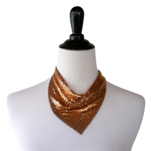 Neiman Marcus Mesh Gold Avant Garde Collar Necklace
