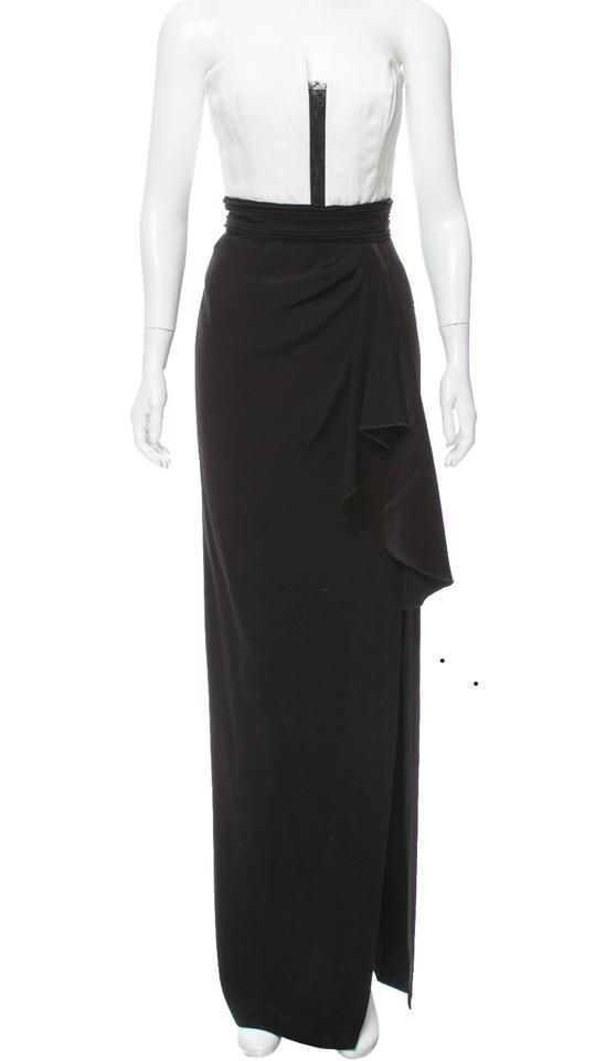 Alice Olivia Black And White Strapless Gown Long Formal Dress Size