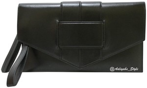 Botkier Wristlet Leather Black Clutch
