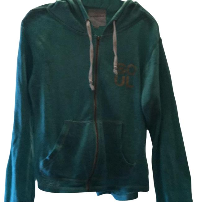 Item - Green and Gold Soft Activewear Outerwear Size 8 (M)