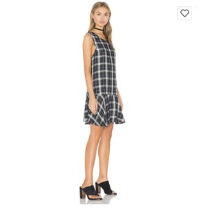 BB Dakota short dress Army green Plaid Ruffle on Tradesy
