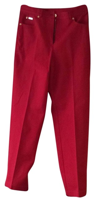 Item - Red and Gold Straight Leg Jeans Size 30 (6, M)
