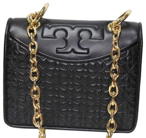 Tory Burch Leather Quilted Fleming Logo Cross Body Bag