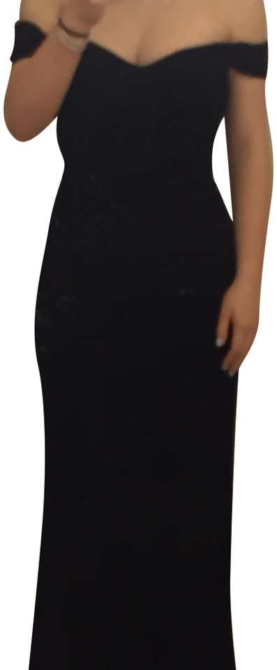 Reformation Black Sweetheart Strapless Mermaid Gown Long Formal ...