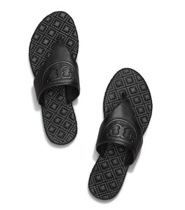 Tory Burch Thong Summer Slides Black Sandals