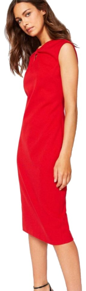 f451ec7c98abe9 Ted Baker Bright Red Kezzia Bow Neck Bodycon Mid-length Cocktail ...
