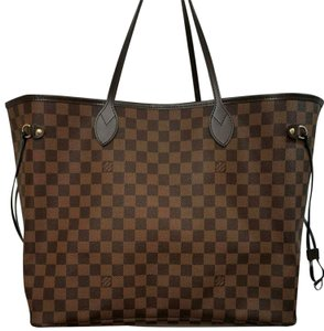 Louis Vuitton Leather Trim Damier Canvas Shoulder Bag