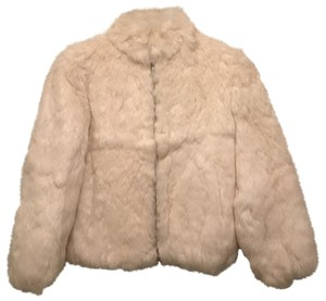 Niki Lavis Rabbit Jacket Real Fur Coat