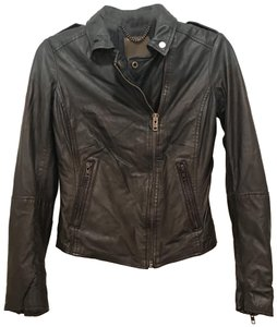 Muubaa Leather Biker Ombre Spring Distressed Motorcycle Jacket