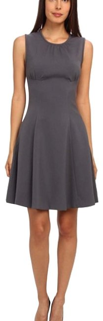 Item - Smoky Quartz Seamed Fit and Flare Mid-length Work/Office Dress Size 00 (XXS)