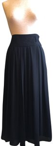 Vince Camuto Sheer Pleated Classic Skirt Black