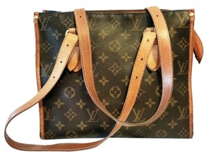 Louis Vuitton Designer Leather Lv Tote in Brown