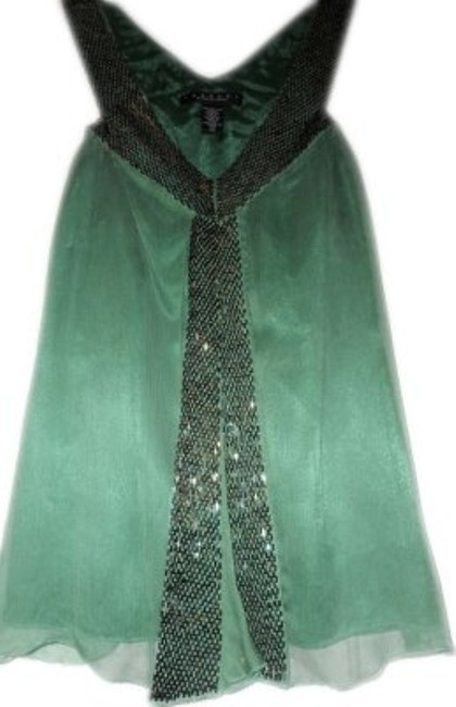 Preload https://item2.tradesy.com/images/elie-tahari-green-silk-chiffon-sleeleless-night-out-top-size-2-xs-23021-0-0.jpg?width=400&height=650