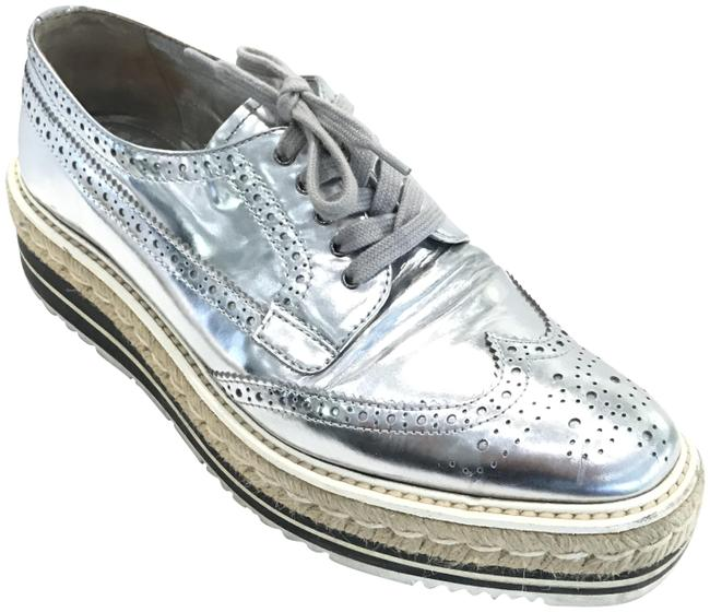 Item - Silver Platform Derbys Loafers Lace Up Sneakers Size EU 40 (Approx. US 10) Regular (M, B)