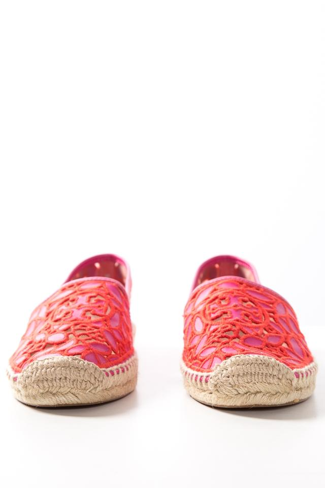 Magenta Burch Lace Sole Tory Rubber Espadrilles Flats 5Hgxgw0