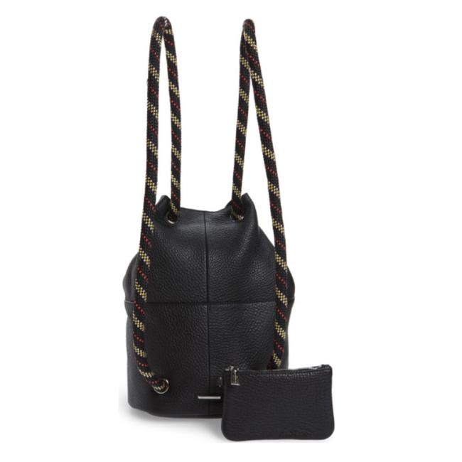 Item - Climbing Rope Black and Multi Leather Backpack