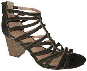 Tahari Suede Leather Caged brown Sandals