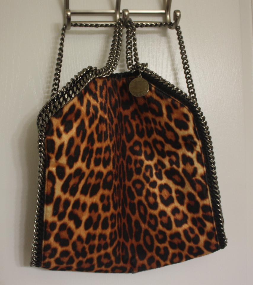 9edbc7ca401a Stella McCartney Falabella Leopard Print Vegan Multi Color Faux ...
