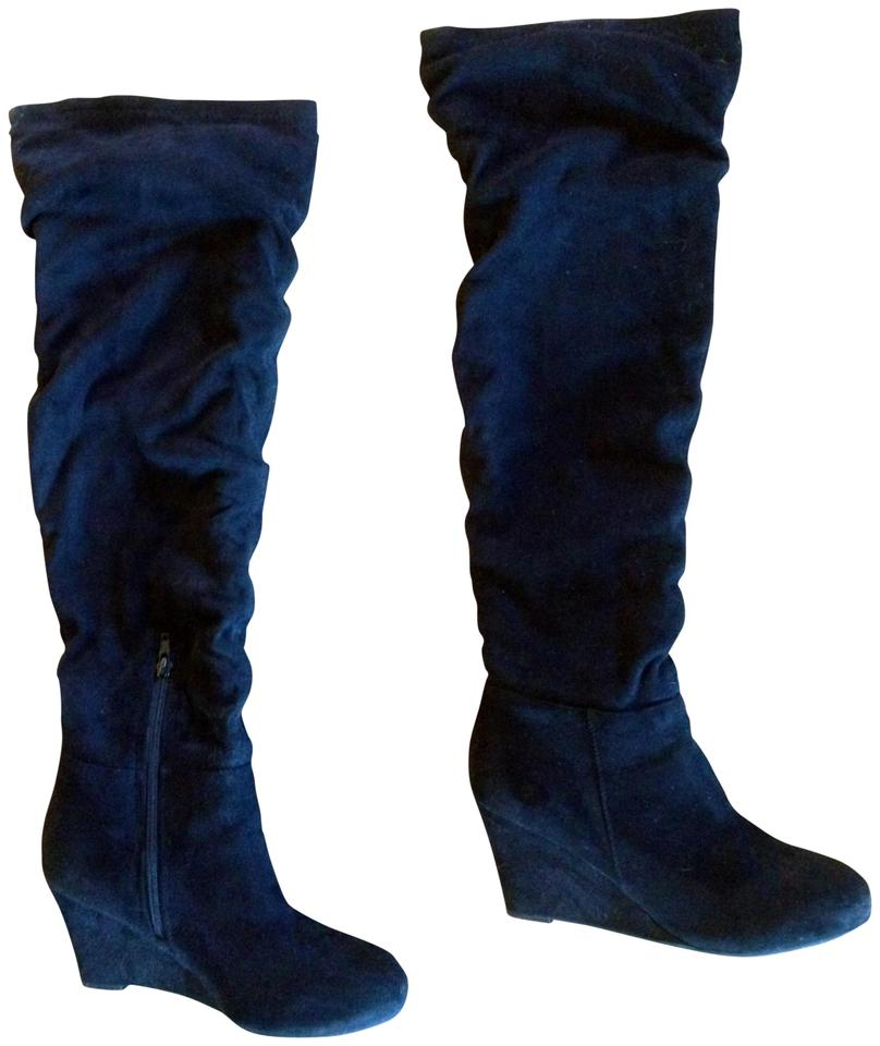 6157e3b567b0 Chinese Laundry Black Over The Knee Slouchy Boots Booties Size US ...
