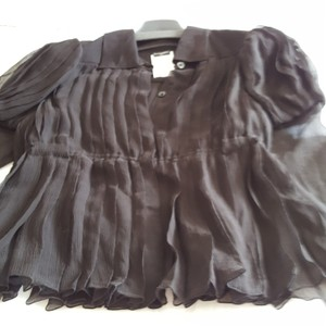 Chanel Button Down Shirt Sheer black