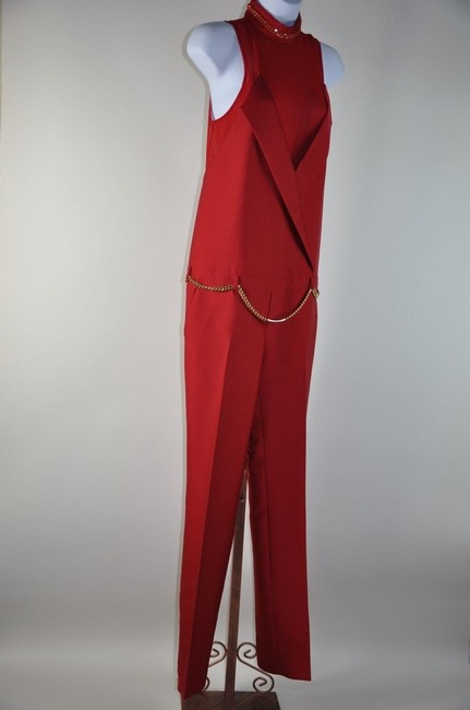Thomas Wylde Silk Catsuit Playsuit Jumper Gold Chain Necklace Belt Size 6 Dress