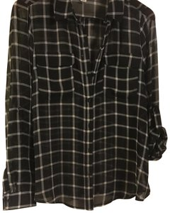 39f254ca06fe2 Old Navy Top black and white extra large check