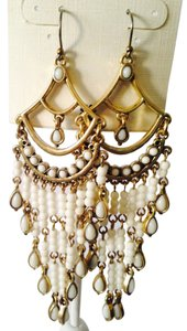 Lucky Brand NWT White Chandelier Earrings
