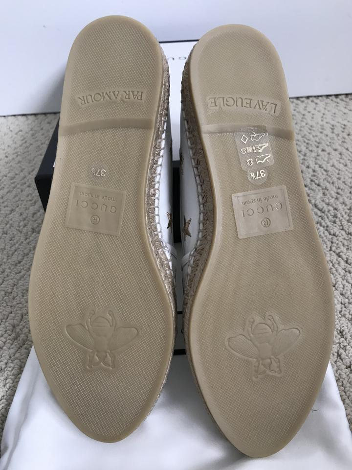 1ea2cee7f7d Gucci Leather Embroidered Espadrilles White Flats Image 11. 123456789101112